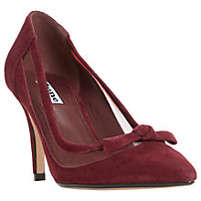 Buy Dune Blume Stiletto Heeled Court Shoes, Wine Suede Online at johnlewis.com