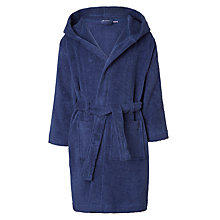 Buy John Lewis Children's Solid Colour Towel Robe, Blue Online at johnlewis.com