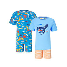 Buy John Lewis Children's Under the Sea Shortie Pyjamas, Pack of 2, Blue Online at johnlewis.com
