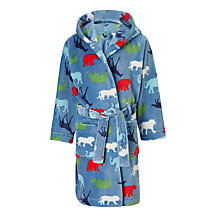 Buy John Lewis Children's Animal Robe, Blue/Multi Online at johnlewis.com