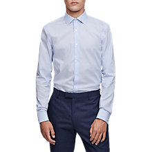 Buy Reiss Preach Slim Fit Cotton Shirt, Soft Blue Online at johnlewis.com