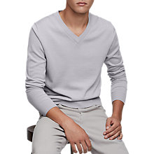 Buy Reiss Earl Grey Knit Jumper, Dove Grey Online at johnlewis.com