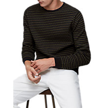 Buy Reiss Hermatige Knit Jumper, Navy Online at johnlewis.com