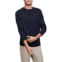 Buy Reiss Senior Knit Jumper, Airforce Blue Online at johnlewis.com