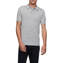 Buy Reiss Manor Knit Polo Shirt, Grey Online at johnlewis.com