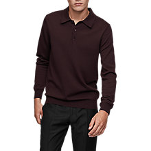 Buy Reiss Trafford Knit Polo Shirt, Bordeaux Online at johnlewis.com