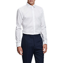 Buy Reiss Slim Fit Cotton Shirt, White Online at johnlewis.com