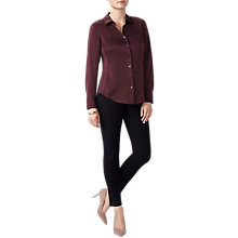 Buy Pure Collection Pure Silk Blouse, Fig Online at johnlewis.com