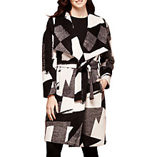 Buy Yumi Mono Pop Waterfall Coat, Monochrome Online at johnlewis.com
