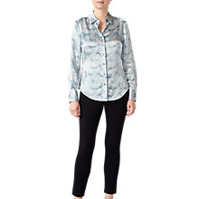 Buy Pure Collection Print Silk Blouse, Paisley Online at johnlewis.com