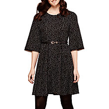 Buy Yumi Polka Dot Pleated Dress, Black/White Online at johnlewis.com