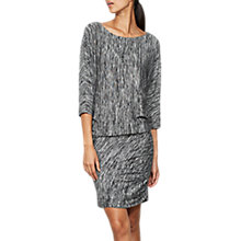 Buy Mint Velvet Marl Batwing Dress, Black Online at johnlewis.com