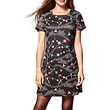 Buy Yumi Weaving Floral Tunic Dress, Black Online at johnlewis.com