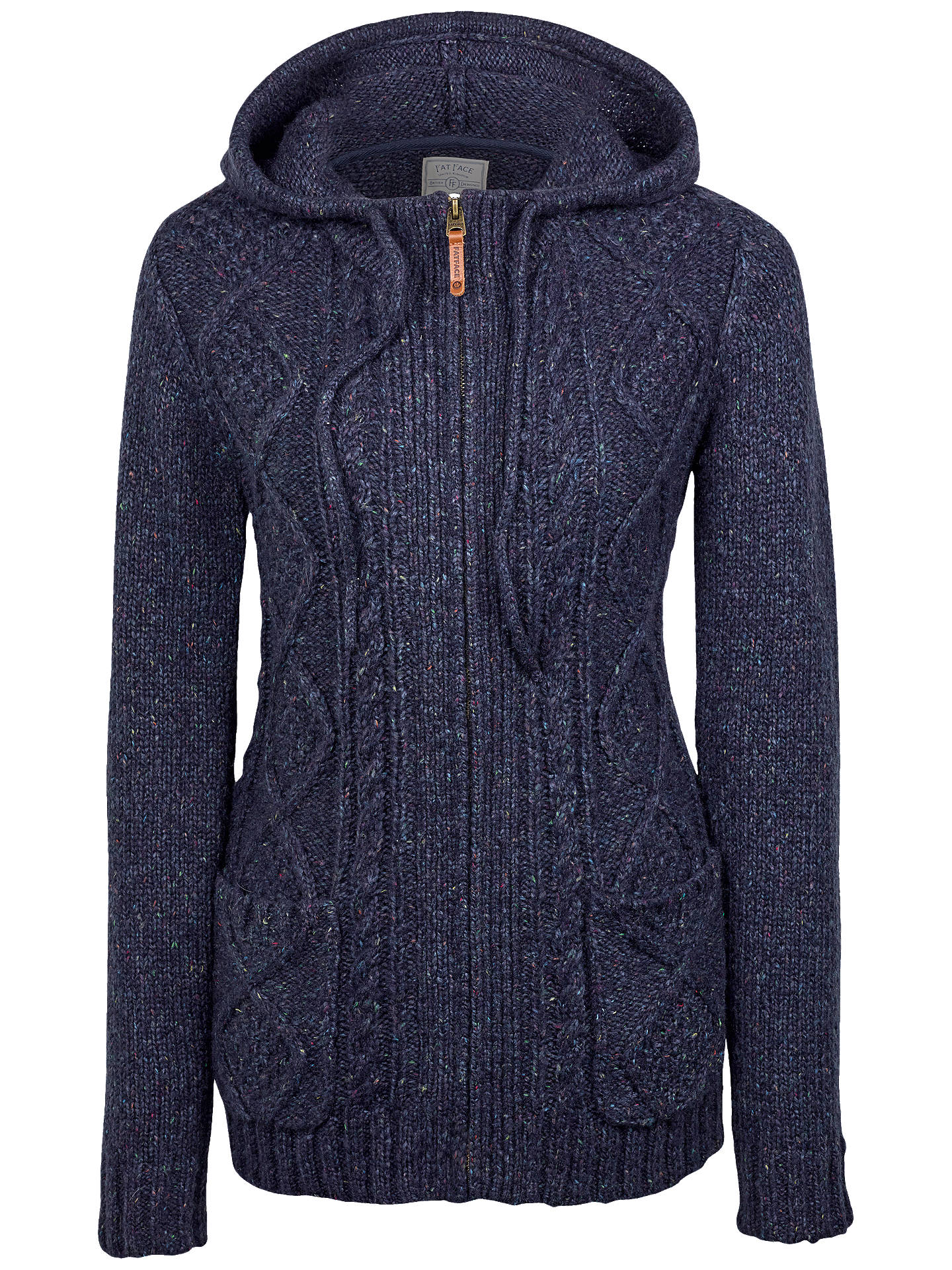 BuyFat Face Alicia Knit Hoodie, Navy, 8 Online at johnlewis.com