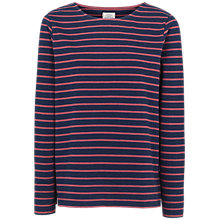 Buy Fat Face Isabel Stripe Top, Navy/Pink Online at johnlewis.com