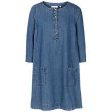 Buy Fat Face Livvy Chambray Shift Dress, Denim Online at johnlewis.com