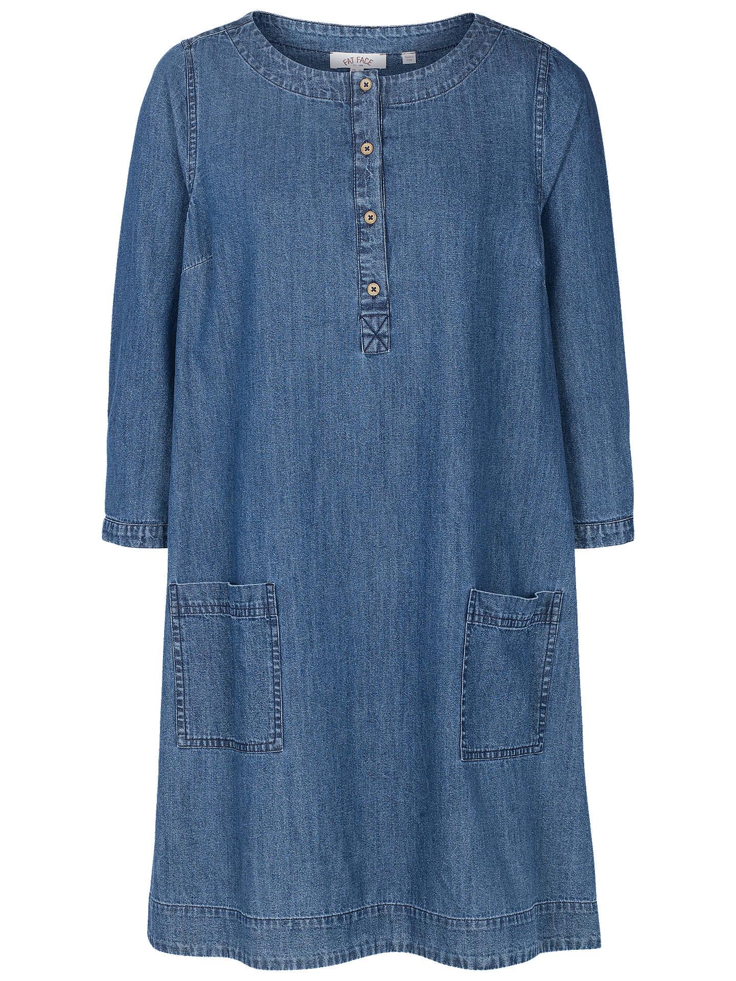 20d367f6183 Buy Fat Face Livvy Chambray Shift Dress