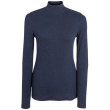 Buy Fat Face Turtle Neck Rib Top, Navy Online at johnlewis.com
