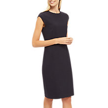 Buy Jaeger Fitted Exposed Dart Dress, Midnight Online at johnlewis.com