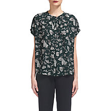 Buy Whistles Justine Autumn Leaf Blouse, Green Online at johnlewis.com