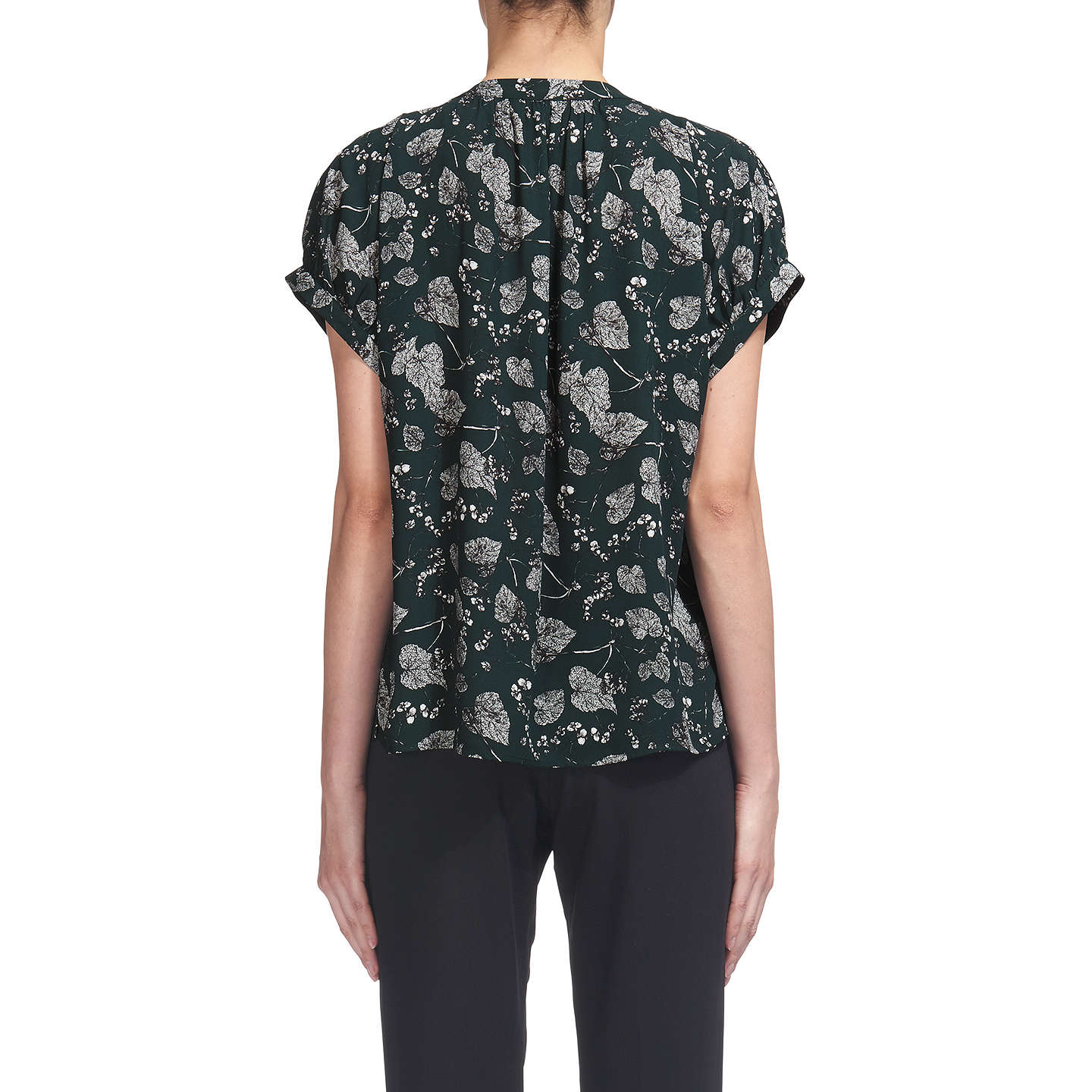 BuyWhistles Justine Autumn Leaf Blouse, Green, XS Online at johnlewis.com