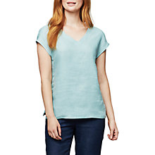 Buy East V-Neck Combination T-Shirt, Duck Egg Blue Online at johnlewis.com