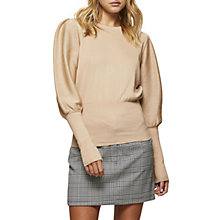Buy Miss Selfridge Big Sleeve Jumper, Camel Online at johnlewis.com