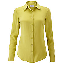 Buy Pure Collection Washed Silk Blouse, Chartreuse Online at johnlewis.com
