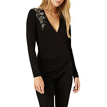 Buy Damsel in a dress Embellished Shoulder Top, Black Online at johnlewis.com