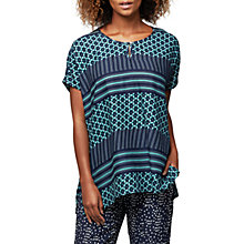 Buy East Astrid Print Oversized Blouse, Ink Online at johnlewis.com