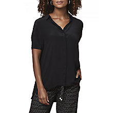 Buy East Combination Silk Blouse, Black Online at johnlewis.com