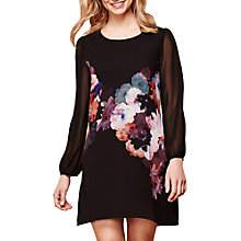 Buy Yumi Nouvea Floral Tunic Dress, Black Online at johnlewis.com