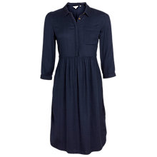 Buy Fat Face Lena Shirt Dress, Navy Online at johnlewis.com
