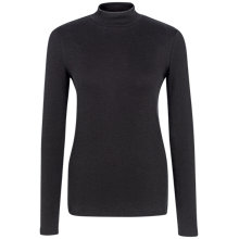 Buy Fat Face Turtle Neck Ribbed Top, Black Online at johnlewis.com