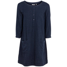Buy Fat Face Livvy Check Tunic Dress, Navy Online at johnlewis.com
