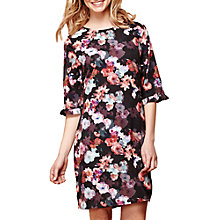 Buy Yumi Floral Frill Trim Tunic Dress, Black Online at johnlewis.com