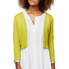 Buy East Cropped Linen Cardigan Online at johnlewis.com
