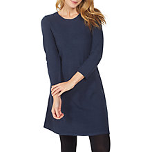 Buy Fat Face Simone Knitted Dress, Navy Online at johnlewis.com
