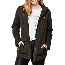 Buy Mint Velvet Patch Pocket Jacket, Dark Green Online at johnlewis.com