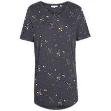 Buy Fat Face Liza Daisy Dot Longline Top, Grey/Multi Online at johnlewis.com