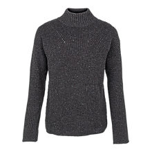 Buy Fat Face Tilly Ribbed Jumper, Charcoal Online at johnlewis.com