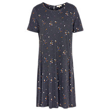 Buy Fat Face Simone Daisy Dot Dress, Grey Online at johnlewis.com