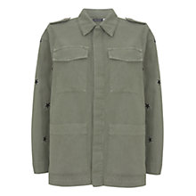 Buy Mint Velvet Star Embroidered Jacket, Green Online at johnlewis.com