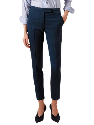 Buy Hobbs Iona Tailored Trousers, Lagoon Blue, 6 Online at johnlewis.com