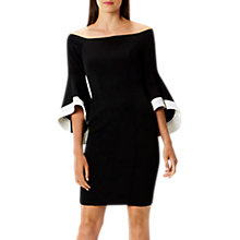 Buy Coast Elodie Bell Sleeved Dress, Monochrome Online at johnlewis.com