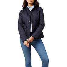 Buy Hobbs Nellie Jacket, Navy Online at johnlewis.com
