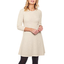Buy Fat Face Simone Knitted Dress, Ivory Online at johnlewis.com