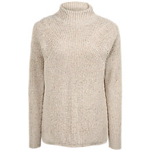 Buy Fat Face Tilly Rib Jumper, Sand Online at johnlewis.com