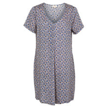 Buy Fat Face Clara Retro Tile Dress, Blue/Multi Online at johnlewis.com