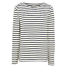 Buy Fat Face Isabelt Stripe Jersey Top, Ivory Online at johnlewis.com